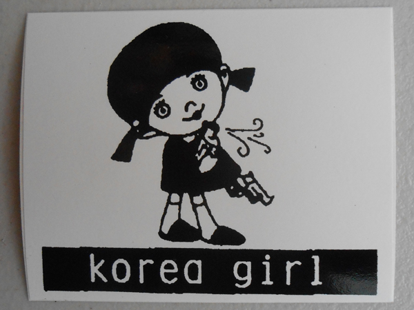 KOREA GIRL Sticker