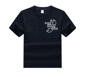 Wiretap Recs - Navy Blue T shirt