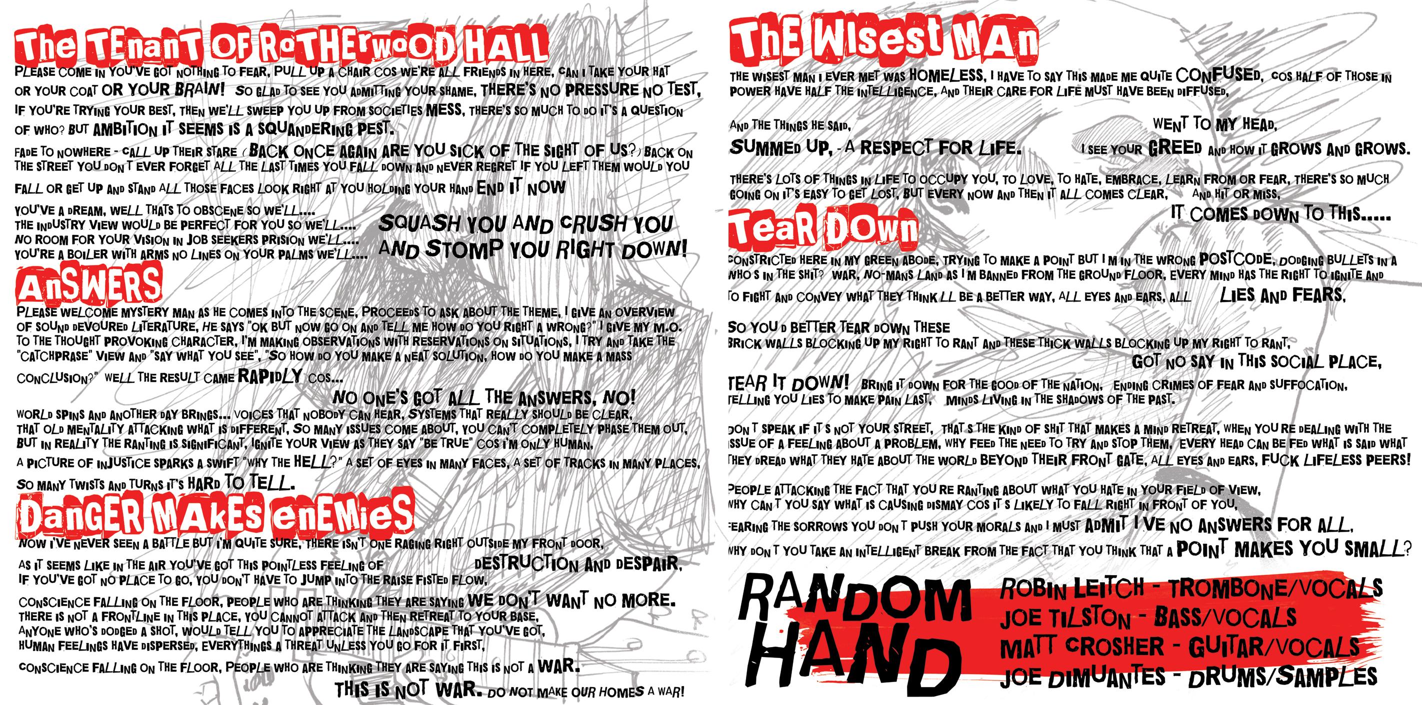 Random Hand - Another Change Of Plan CD     - Bomber Music