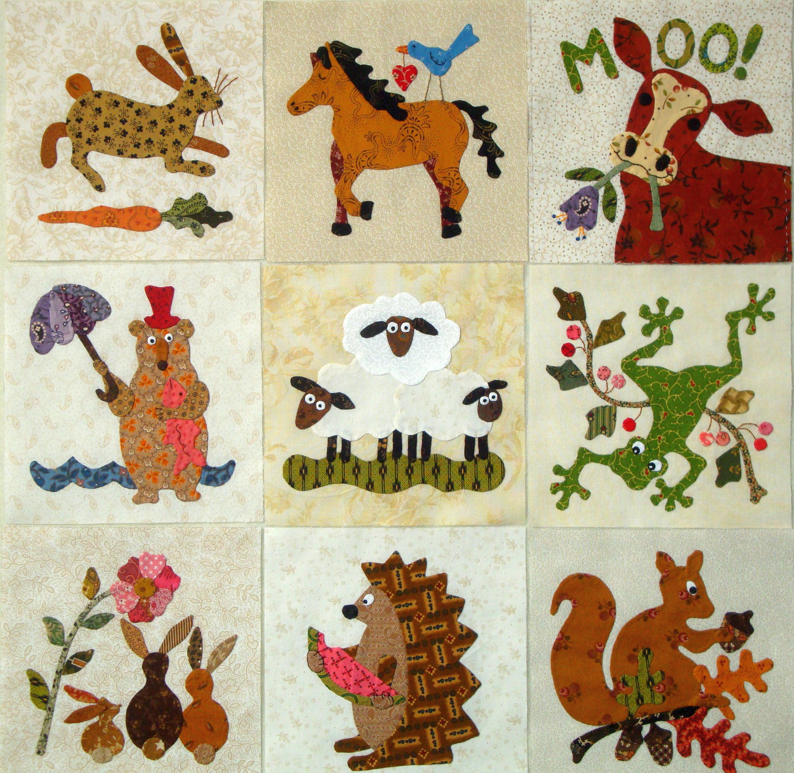 Fabric Therapy Online - Animals (1) - A Collection of 9