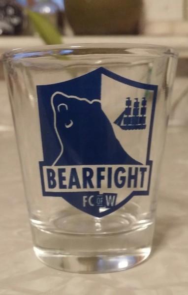 Bearfight FC Shot glass