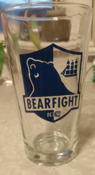 Bearfight FC Pint Glass