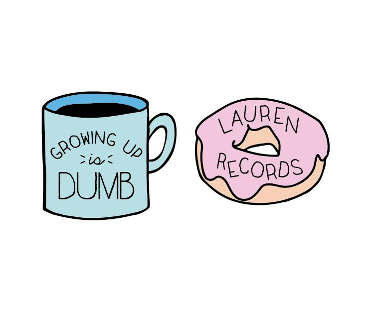 Coffee Mug and Donut Enamel Pin Set