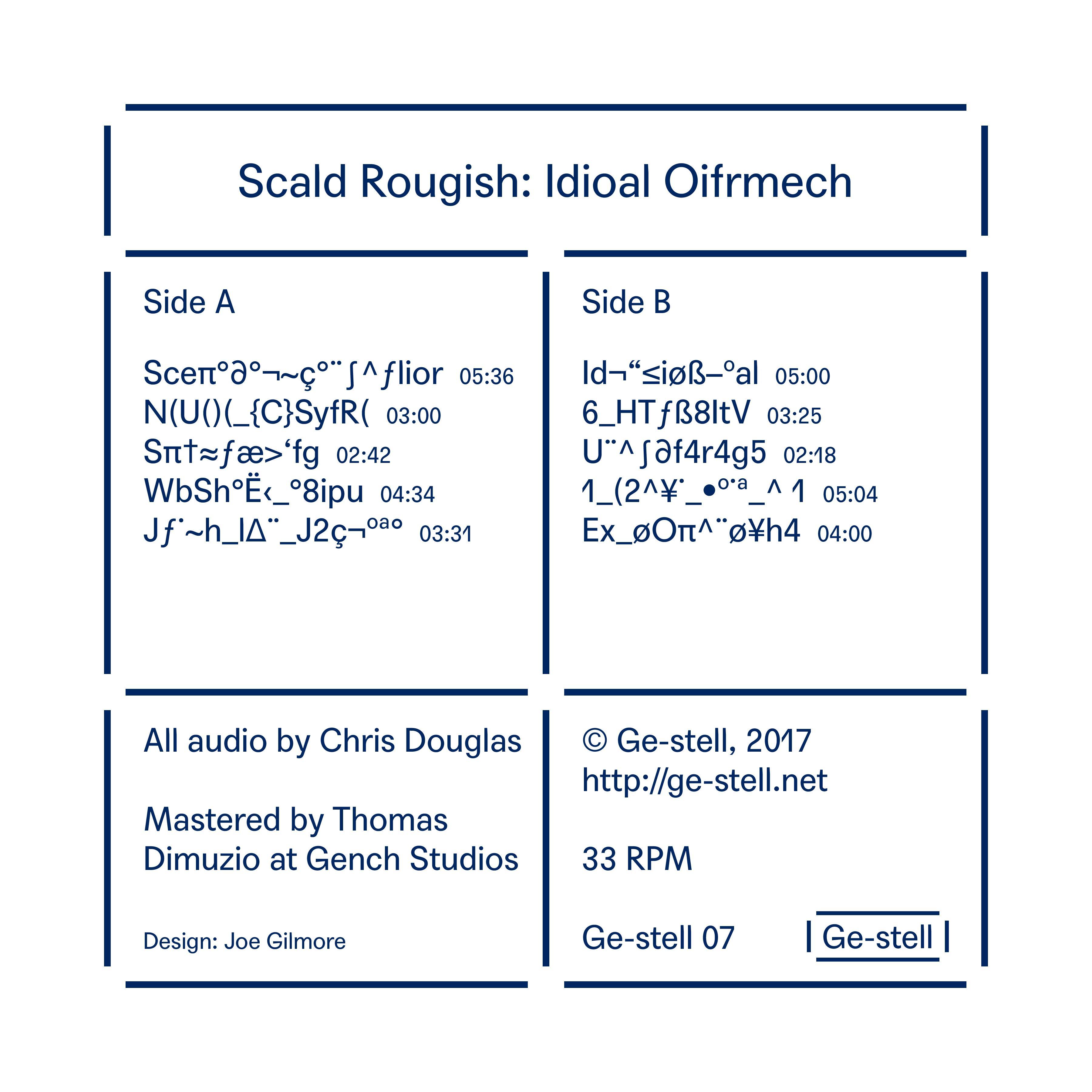 Scald Rougish - Idioal Oifrmech (LP)