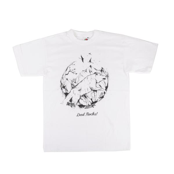 Dad Rocks - White T-Shirt