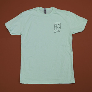 Topshelf Records - Hand Drawn Logo Pocket Print Shirt (Mint)