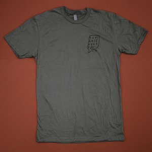 Topshelf Records - Hand Drawn Logo Pocket Print Shirt (Warm Gray)