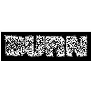 Burn 'Logo' Sticker