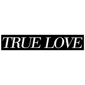 True Love 'Logo' Oversized Sticker