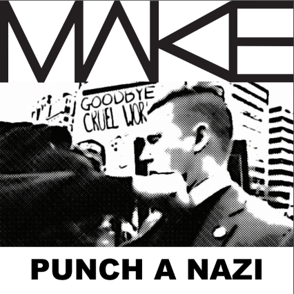 MAKE 'Punch A Nazi' Sticker