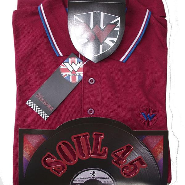 Soul 45 Polo Keep the Faith Burgundy