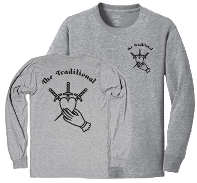 SALE!!!  The Traditional - Heart & Dagger, Longsleeve Shirt