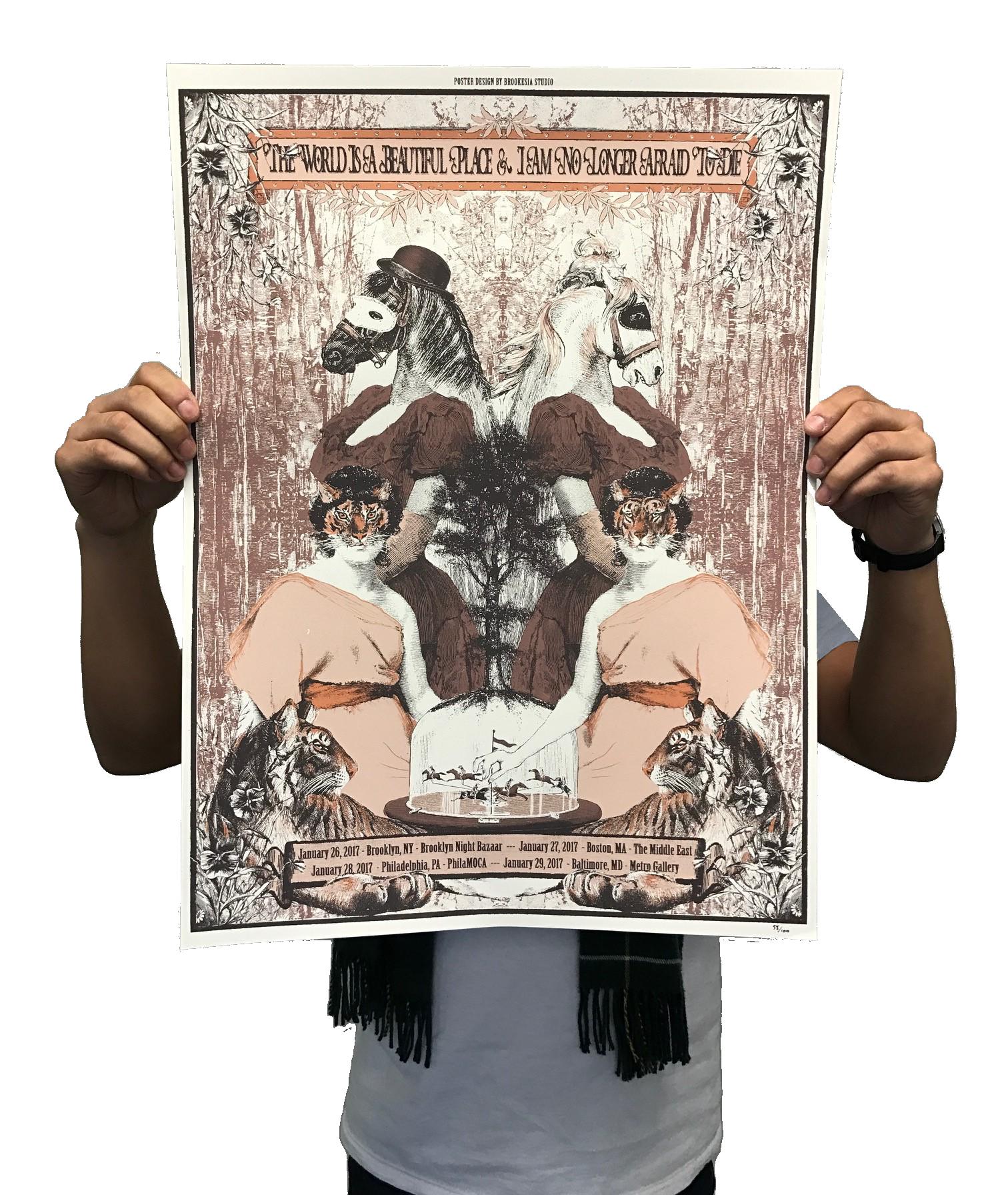 Screen Printed Tour Poster