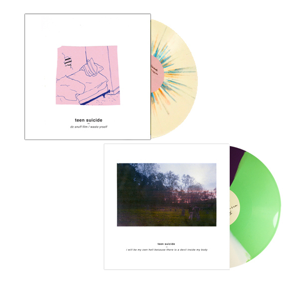 teen suicide Bundle - i will be my own hell... & dc snuff film / waste yrself - LP/CD/CS