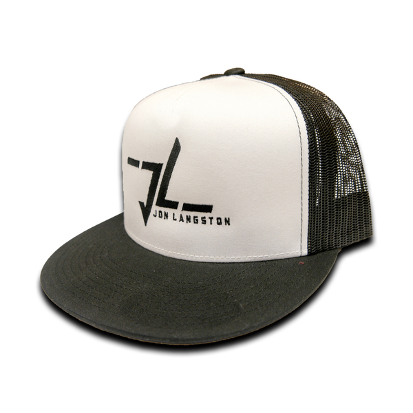 BRAND NEW DESIGN- Jon Langston Logo Hat-Black & White