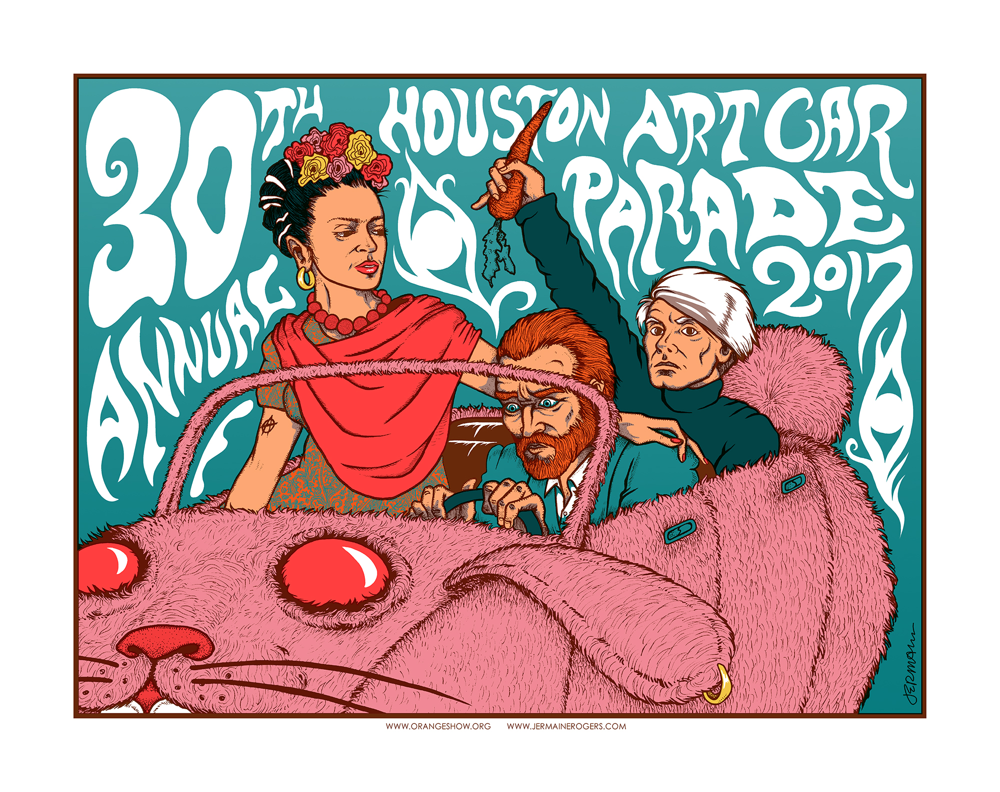 NEW - Houston Art Car Parade 2017 30th Anniversary Commemorative Print -