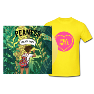 Peaness 'Are You Sure EP' 10trk Green Vinyl/CD and Tee