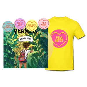 Peaness 'Are You Sure EP' 10trk Yellow Vinyl/CD, tee and badge set
