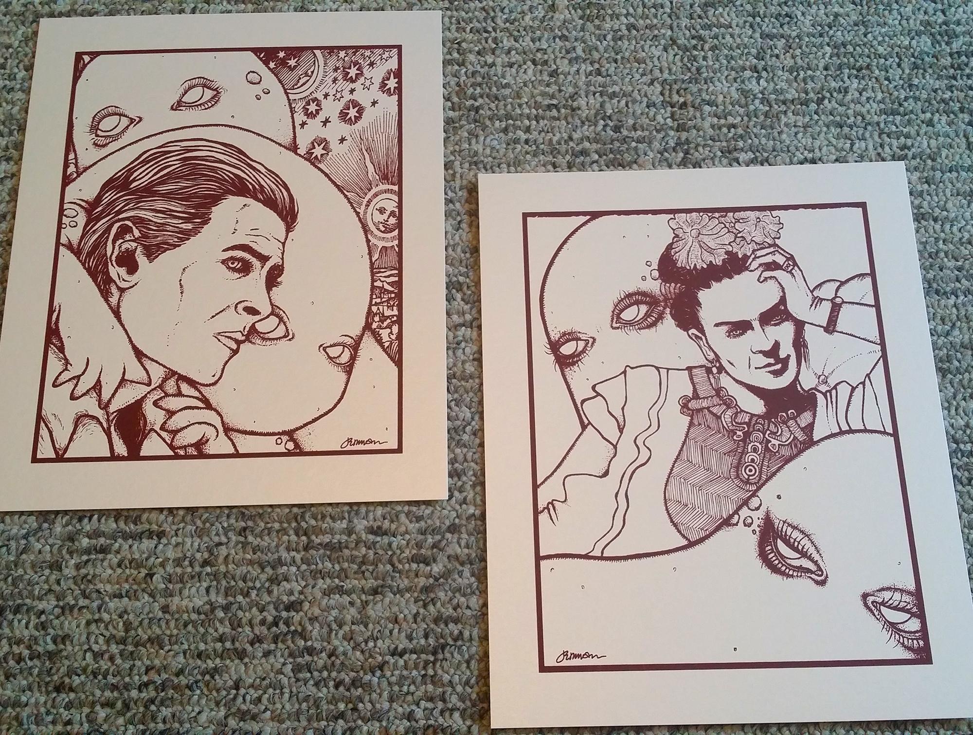 NEW - 'Melancholy' (prints #'s 1 & 2: 'David' and 'Frida') - VARIANTS & KEYLINES
