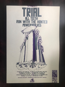 Trial / RWTH / All Teeth / Powerwolves Tour 2012 Poster