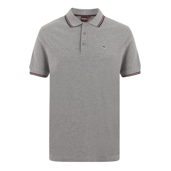 MERC Card Polo Shirt-Mineral Marl
