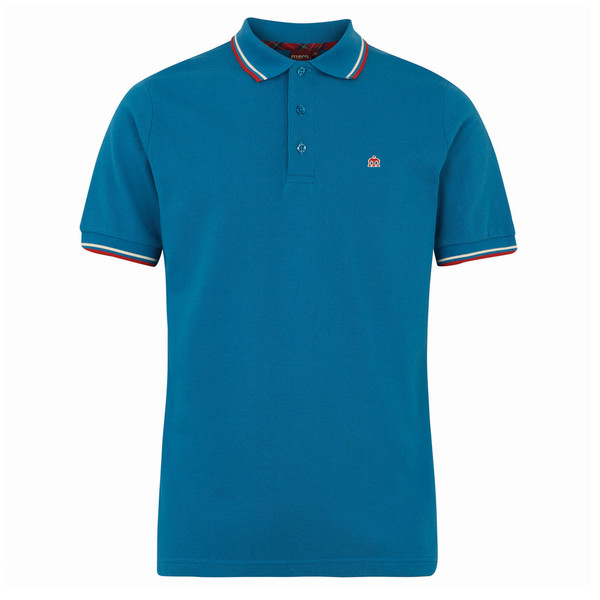 MERC Card Polo Shirt-Bright Blue