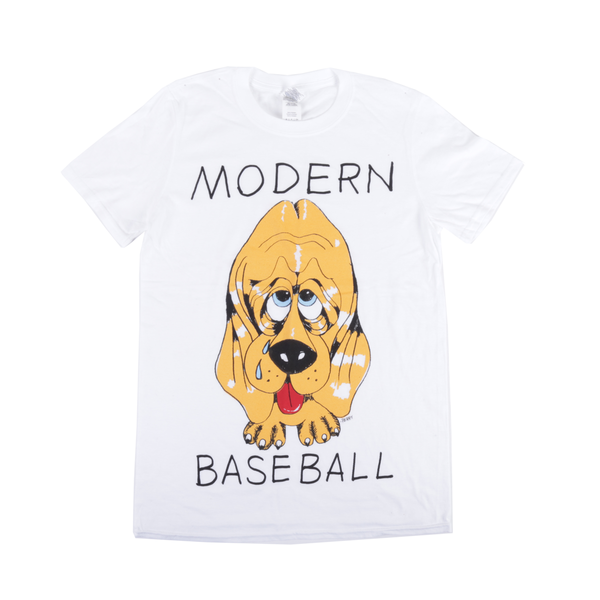Modern Baseball - Cartoon Dog Design - White Shirt