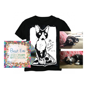 Best Ex - Ice Cream Anti-Social CD and Mildred Pizza Sufing Tee/ signed cat photo