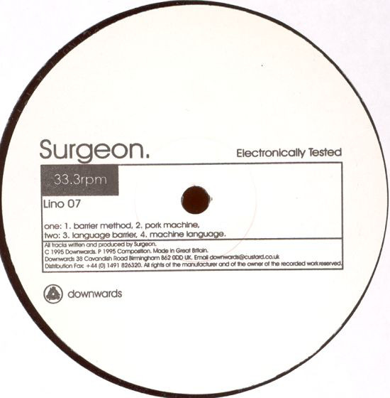 Surgeon: Electronically Tested (Downwards)