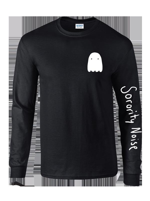 Ghost Long Sleeve Tee - Black