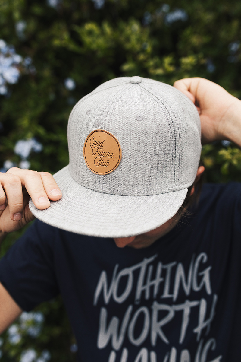 Snapback Hat with Stacked Script Logo