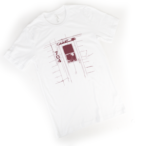 Door 704 White Tri-Blend T-Shirt
