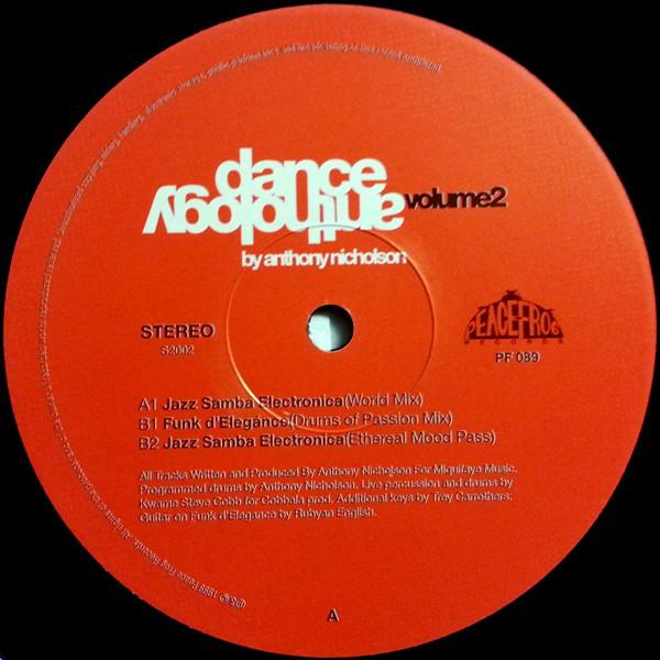 Anthony Nicholson: Dance Anthology Volume 2 (Peacefrog Records)