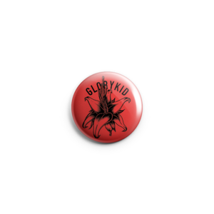Glory Kid - Floral Red Button