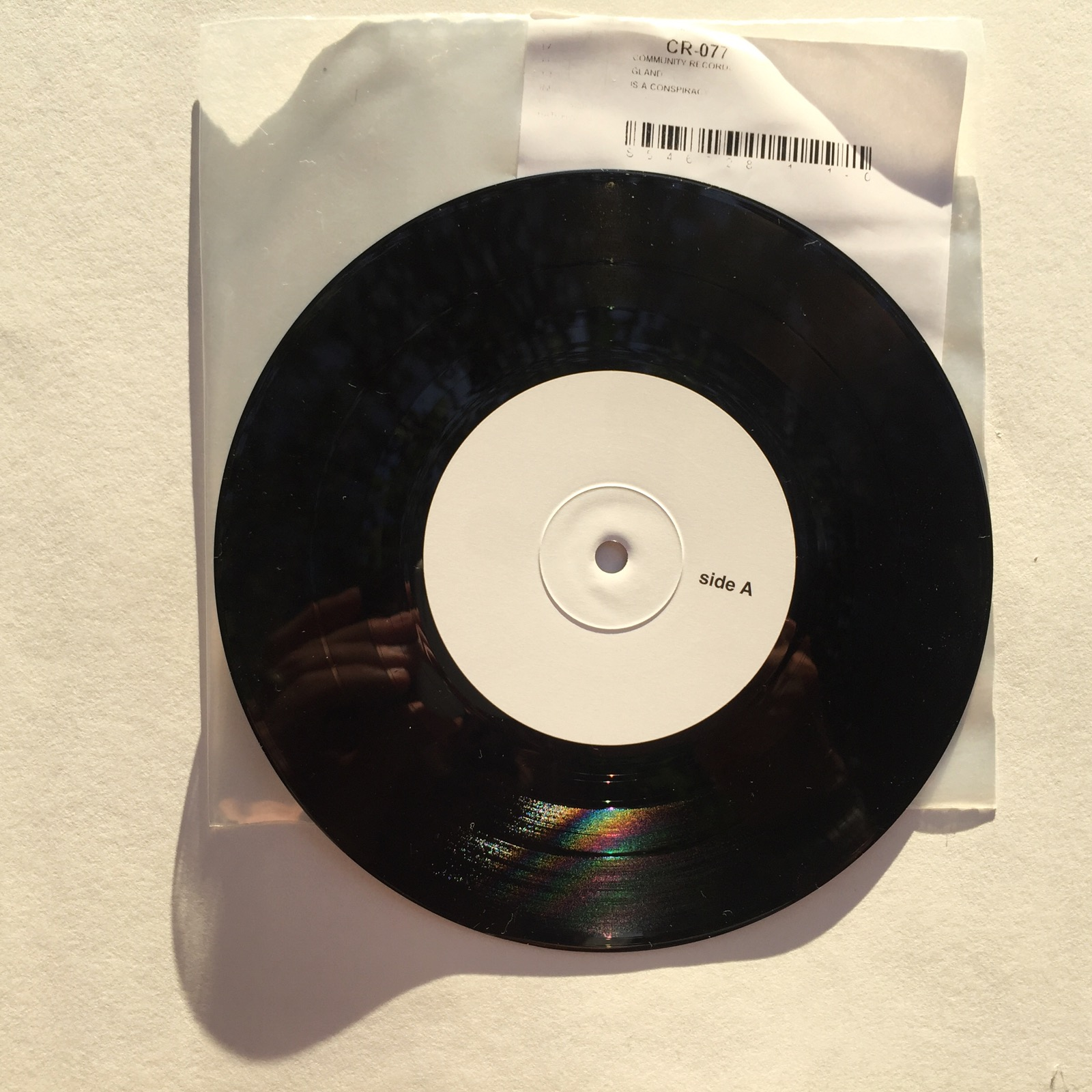 community records - gland - is a conspiracy - test pressing