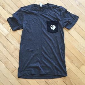 Dark Heather Gray Pocket Shirt