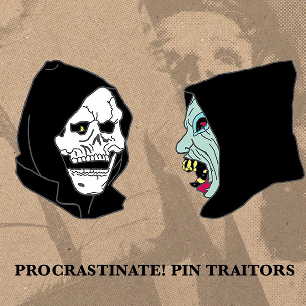 The Devil and God Enamel Pin