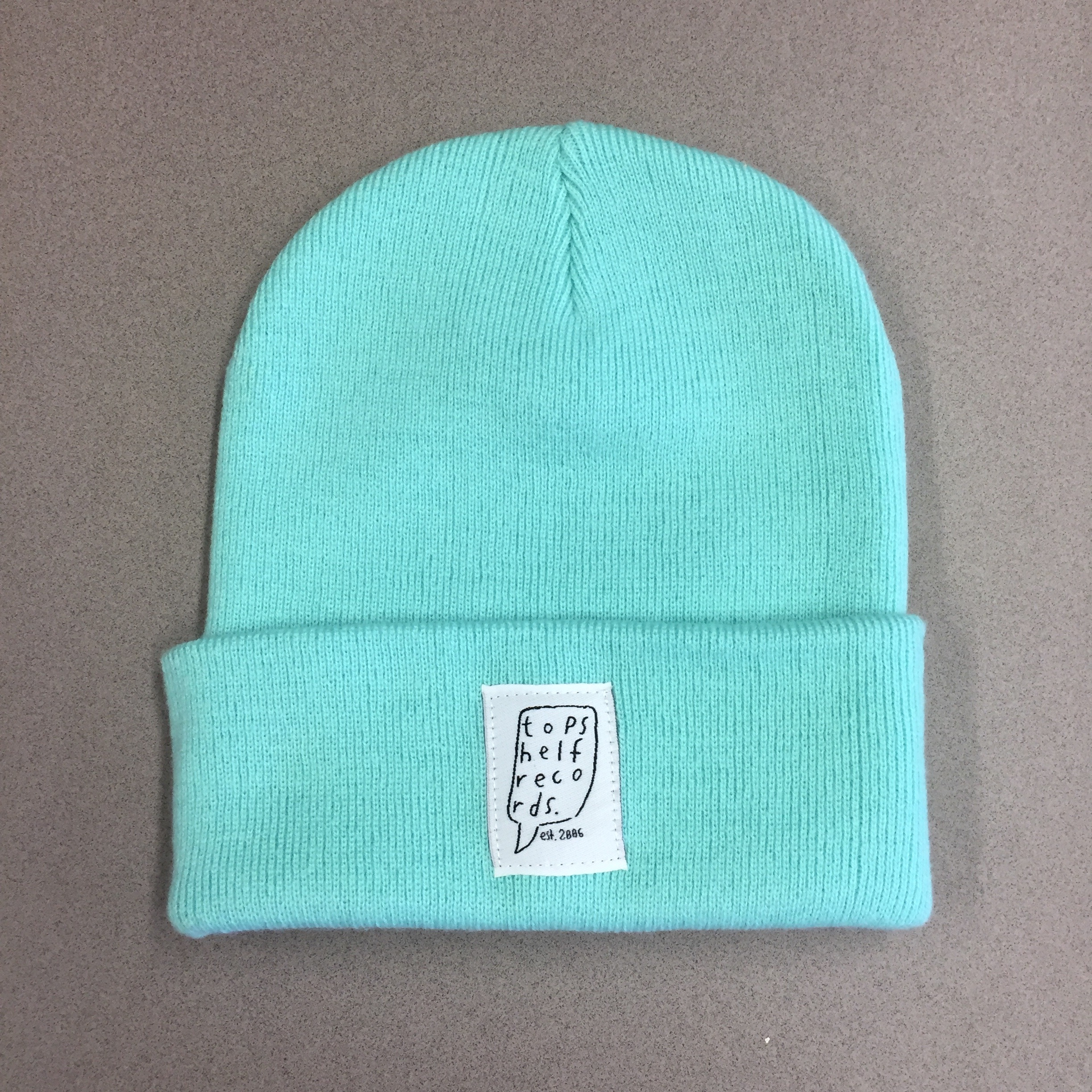 Topshelf Records - Mint Knit Hat with Sewn Label 7eac6eb900f