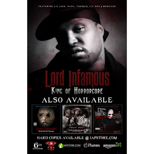 Lord Infamous - King of Horrorcore 11 x 17 Poster