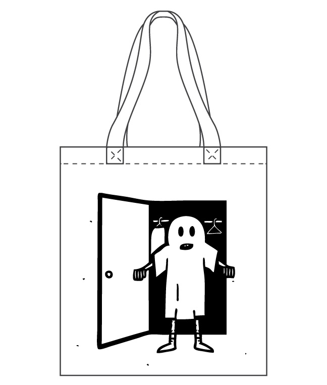 GHOST IN THE CLOSET TOTE