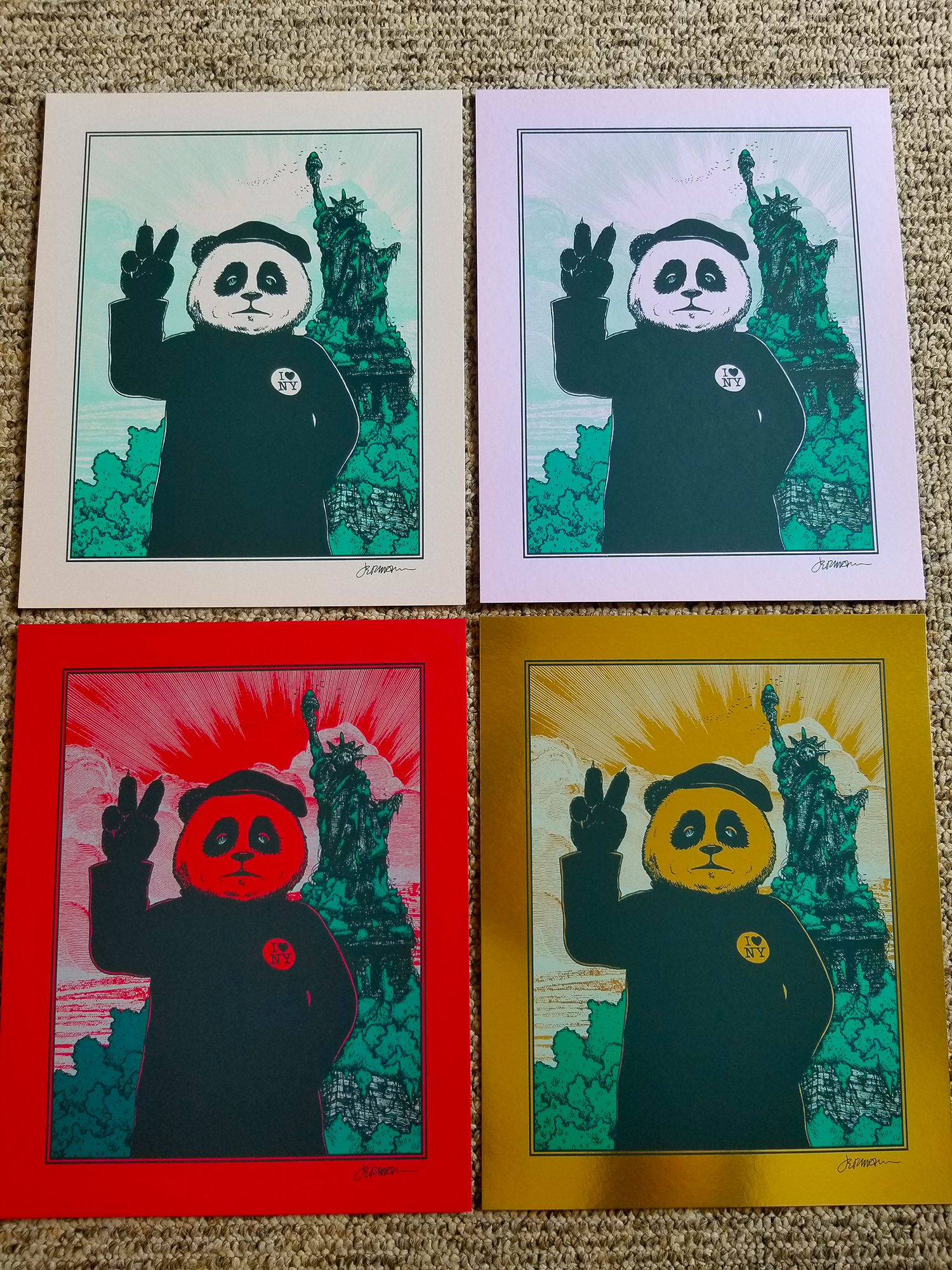 NEW 'Gimme Some Peace' Mini Art Print (VARIANTS) Eddie Vedder/Pearl Jam