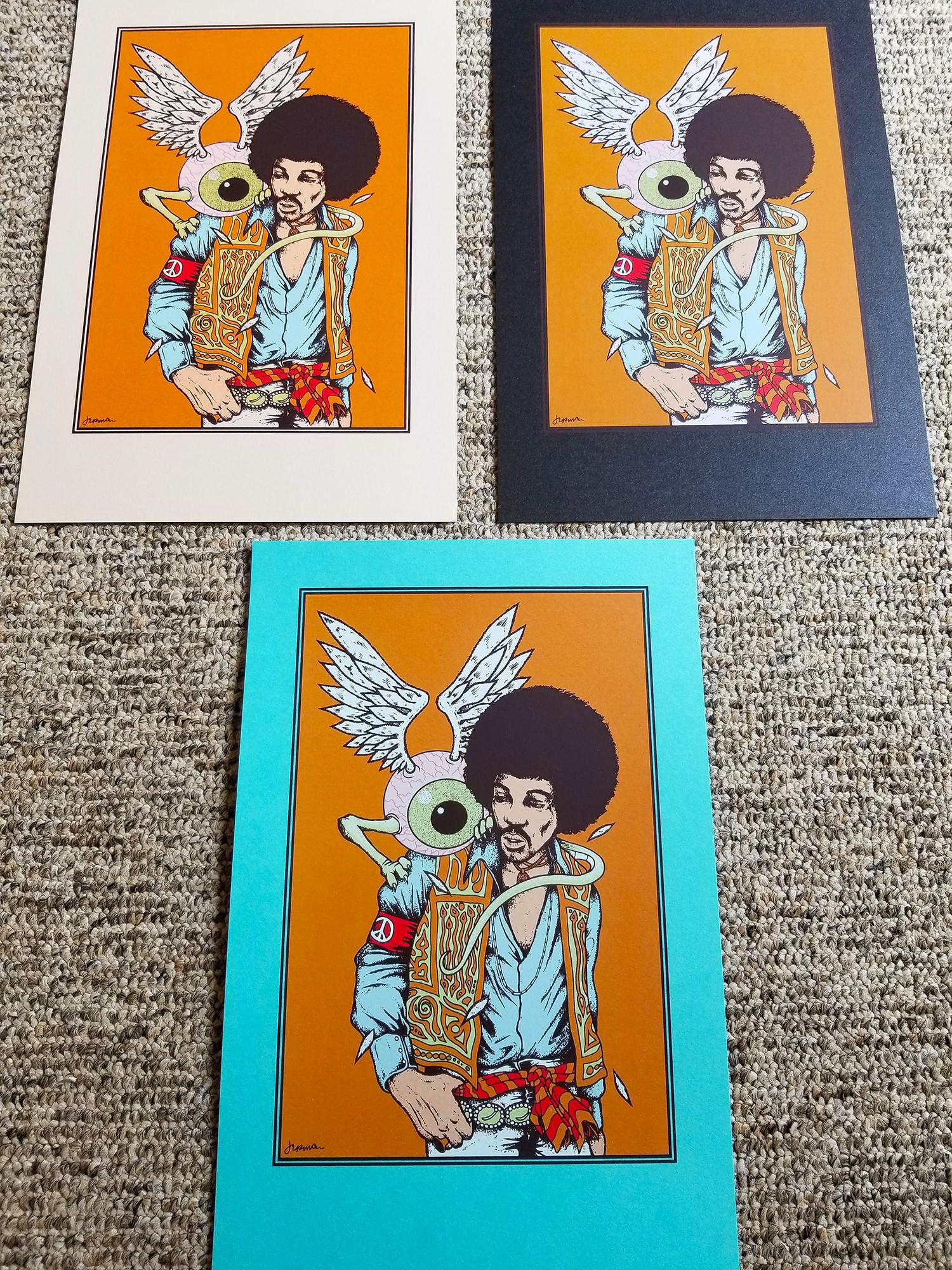 - NEW 'Gypsy Eye' Mini Art Print (Hendrix / Rick Griffin Tribute)