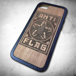 Anti-Flag - Metal Alloy + Wood Custom Phone Case