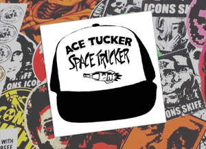 Ace Tucker Space Trucker Sticker