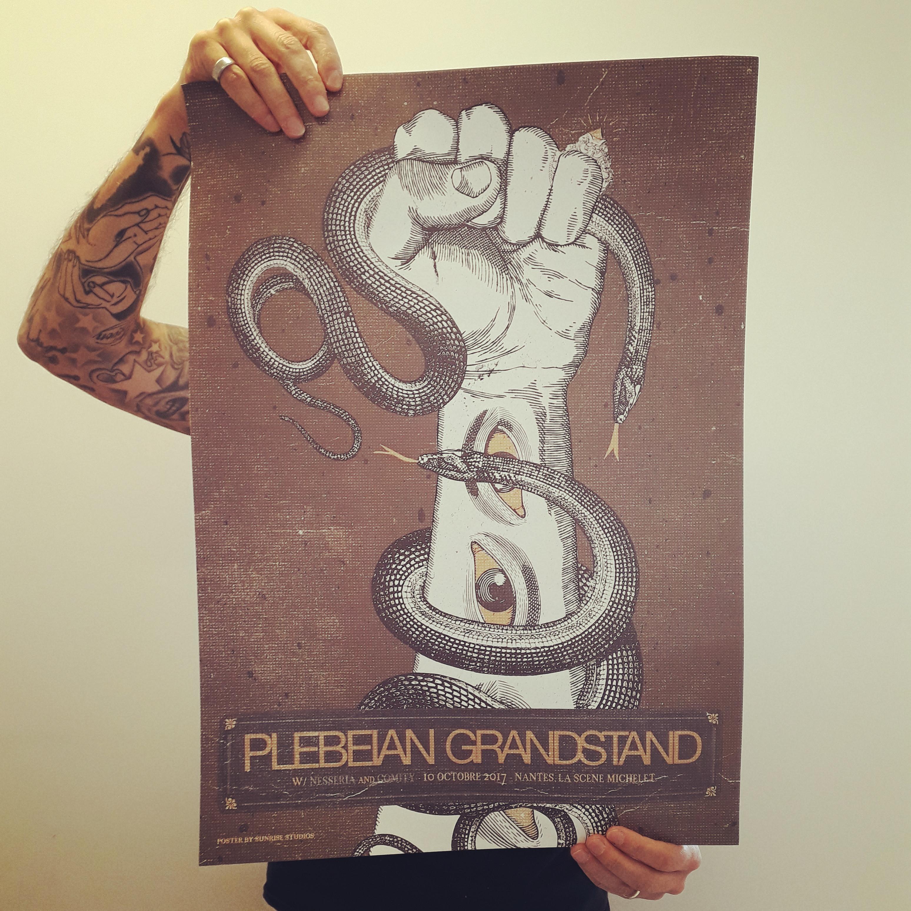 PLEBEIAN GRANDSTAND Show poster