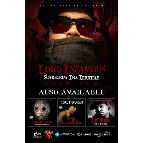 Lord Infamous - Scarecrow Tha Terrible Part 2 11 x 17 Poster (Autographed)