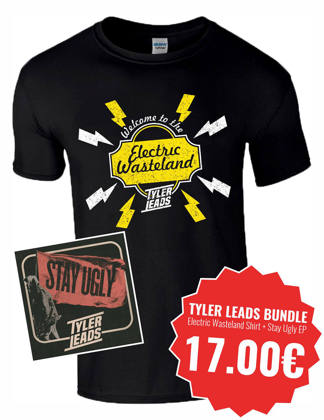 [BUNDLE] Stay Ugly EP + Electric Wasteland T-Shirt