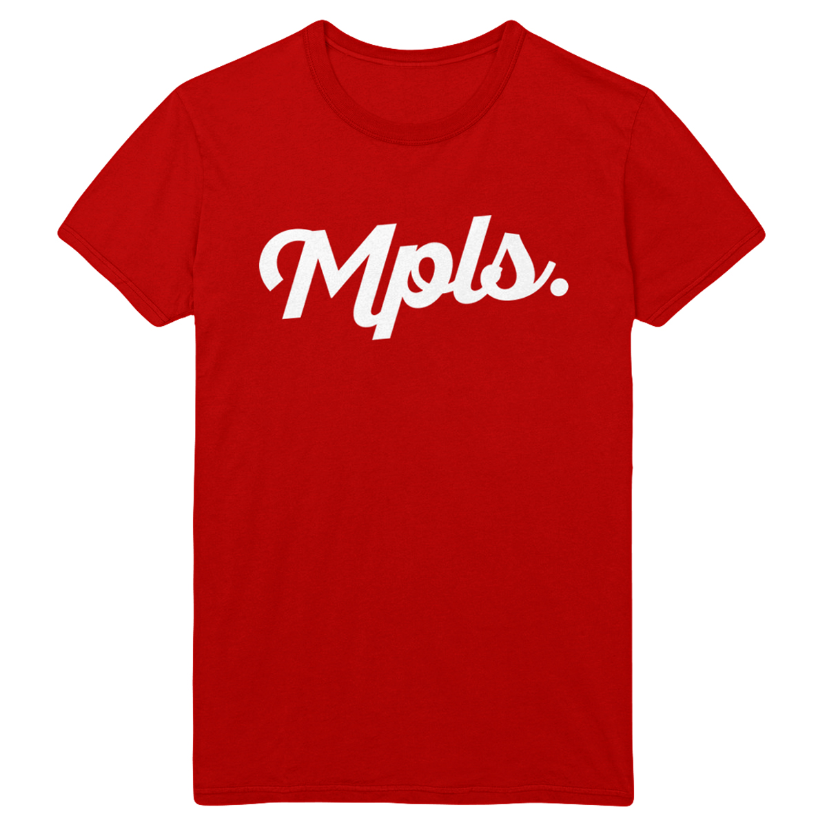 MPLS Classic Tee - Red/White