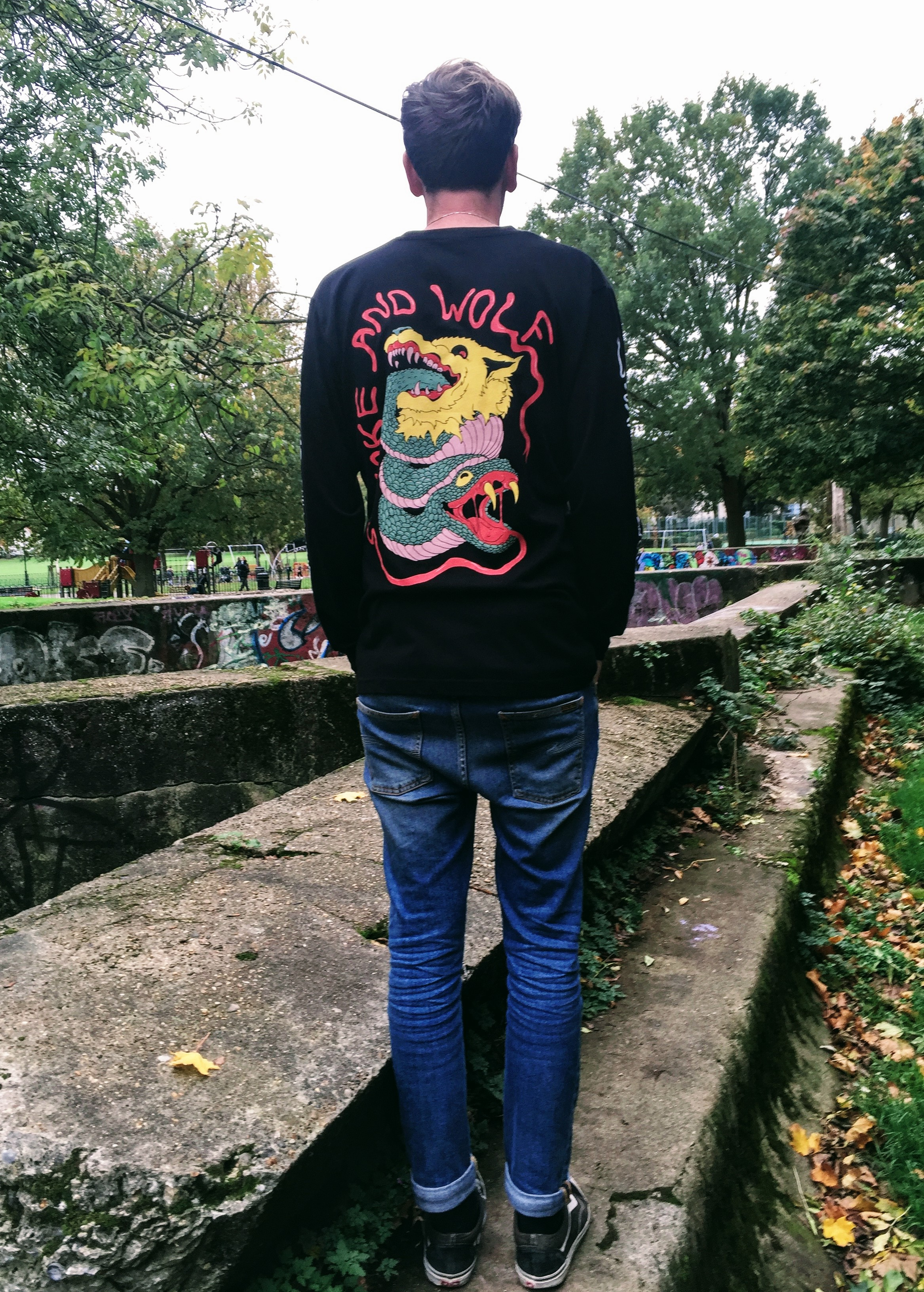 Snake & Wolf Long Sleeve Tee