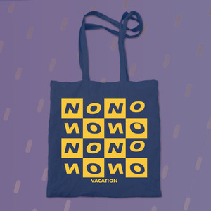 No Vacation - Vinyl Tote Bag